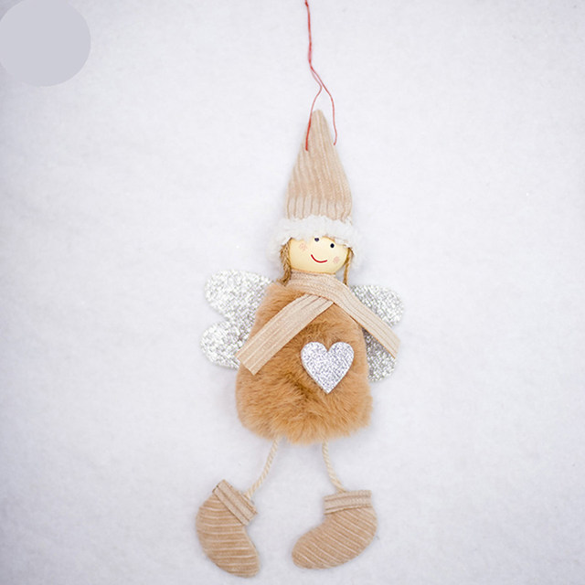Happy New Year 2020 Latest Christmas Cute Silk Plush Angel Doll Xmas Tree Ornaments Christmas Decoration For Home Kids Gifts 15