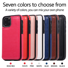 2019 New Arrival Magnetic Luxury Leather Wallet Case Card Slot Shockproof Flip Cover 6.1 Inch