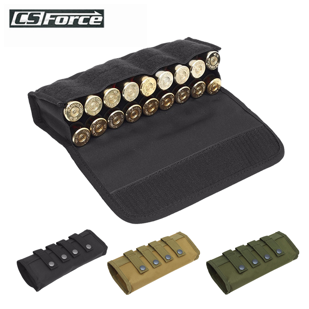 18 Round Tactical Molle Ammo Pouch Shell Holder Ammo Bag Hunting Shooting Military 12/20 Gauge Shotgun Cartridges Bullet Pouch