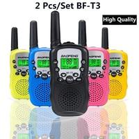 ווקי טוקי 2pcs / סט אופנה Baofeng BF-T3 ילדים בטוח Portable טוקי רדיו דו כיווני משדר לילדים ווקי (1)