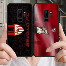 Yinuoda Phone Case For Sevilla FC Samsung Galaxy Shell Note4 5 9 A7 A8(2018) A9 Black Soft TPU Cover For J2Pro J4 J6 J7 Note5(China)