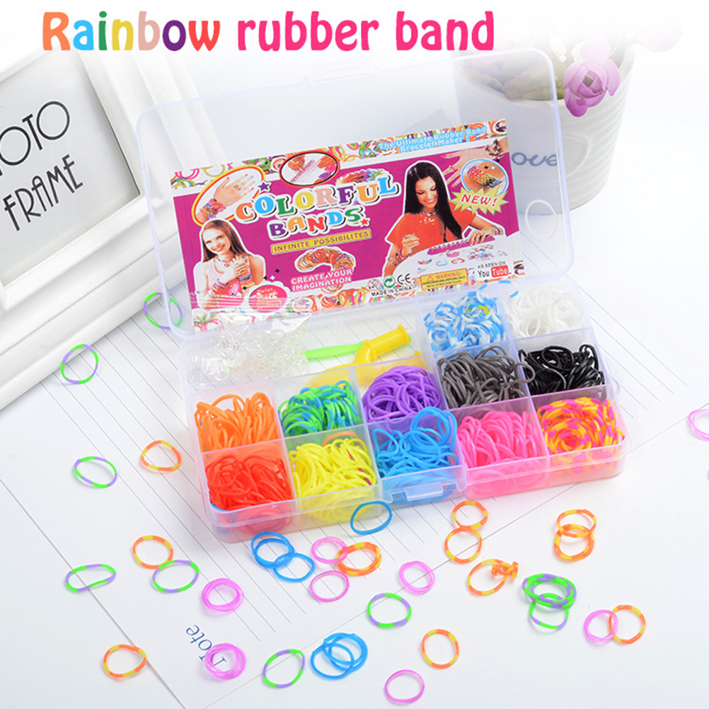 15 グリッド織機ゴムバンドブレスレット子供や髪虹ゴム織機バンドは、織ブレスレットdiyのおもちゃクリスマス 2029 ギフト