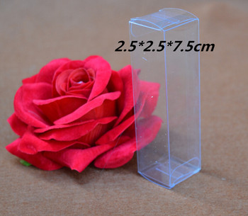 2.5*2.5*7.5cm 100pcs/lot Clear Display PVC Packaging Box Transparent Gift Plastic Box For Jewelry/Craft/Bottle/Cosmetic