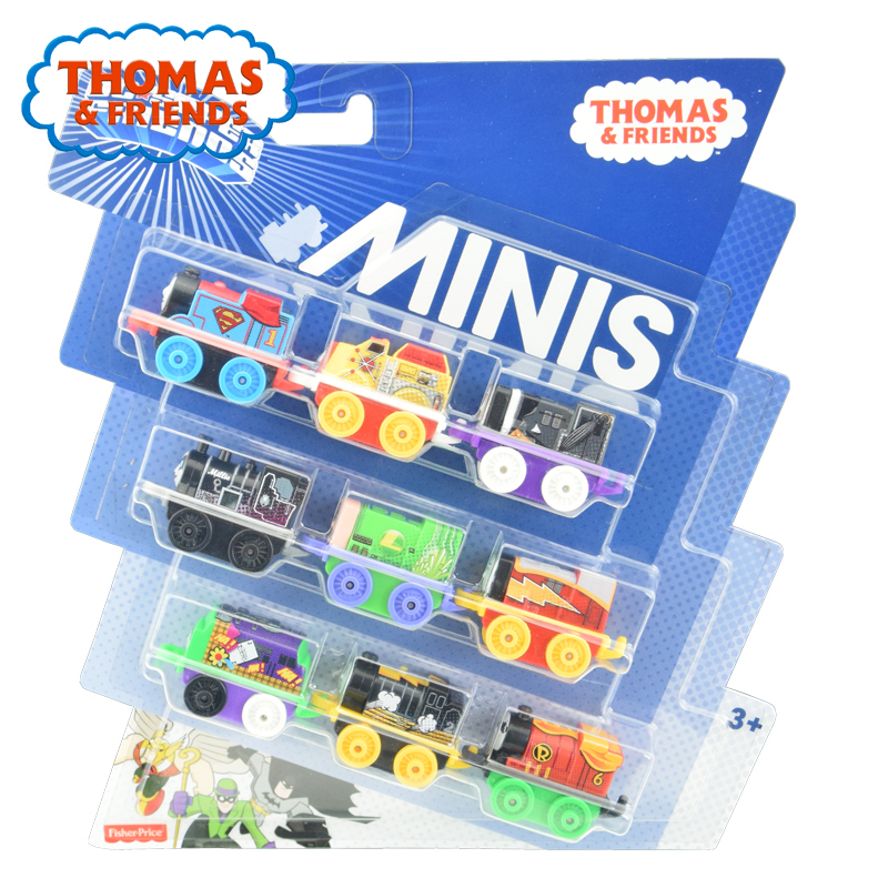 Thomas & Friends Minis Train Engines 3 Pack Diecast Toy James Percy Character Train Player Minis Pocket Toys CHL60 Brinquedo Kid