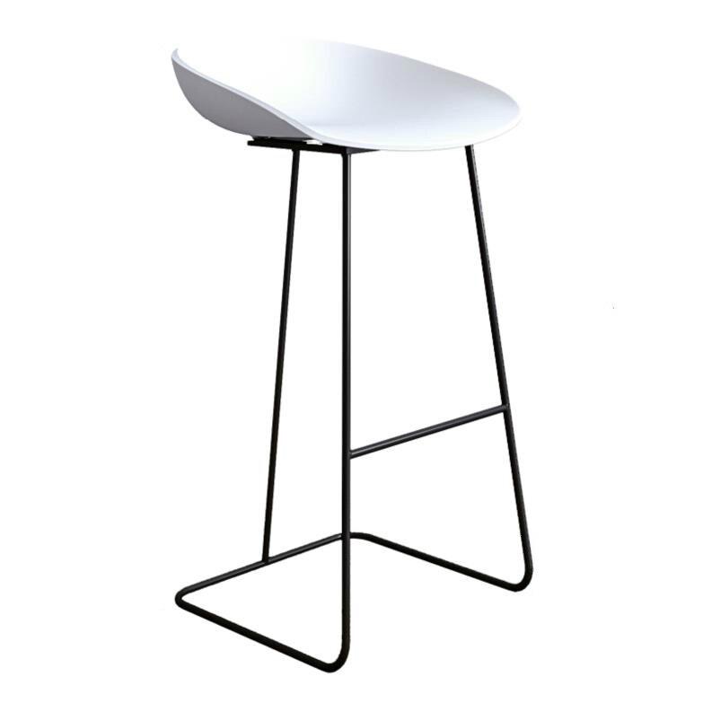 H1 Nordic Bar Stools Gold Wrought Iron Stool European Modern Minimalist Home Backrest High Chair Creative ins Bar