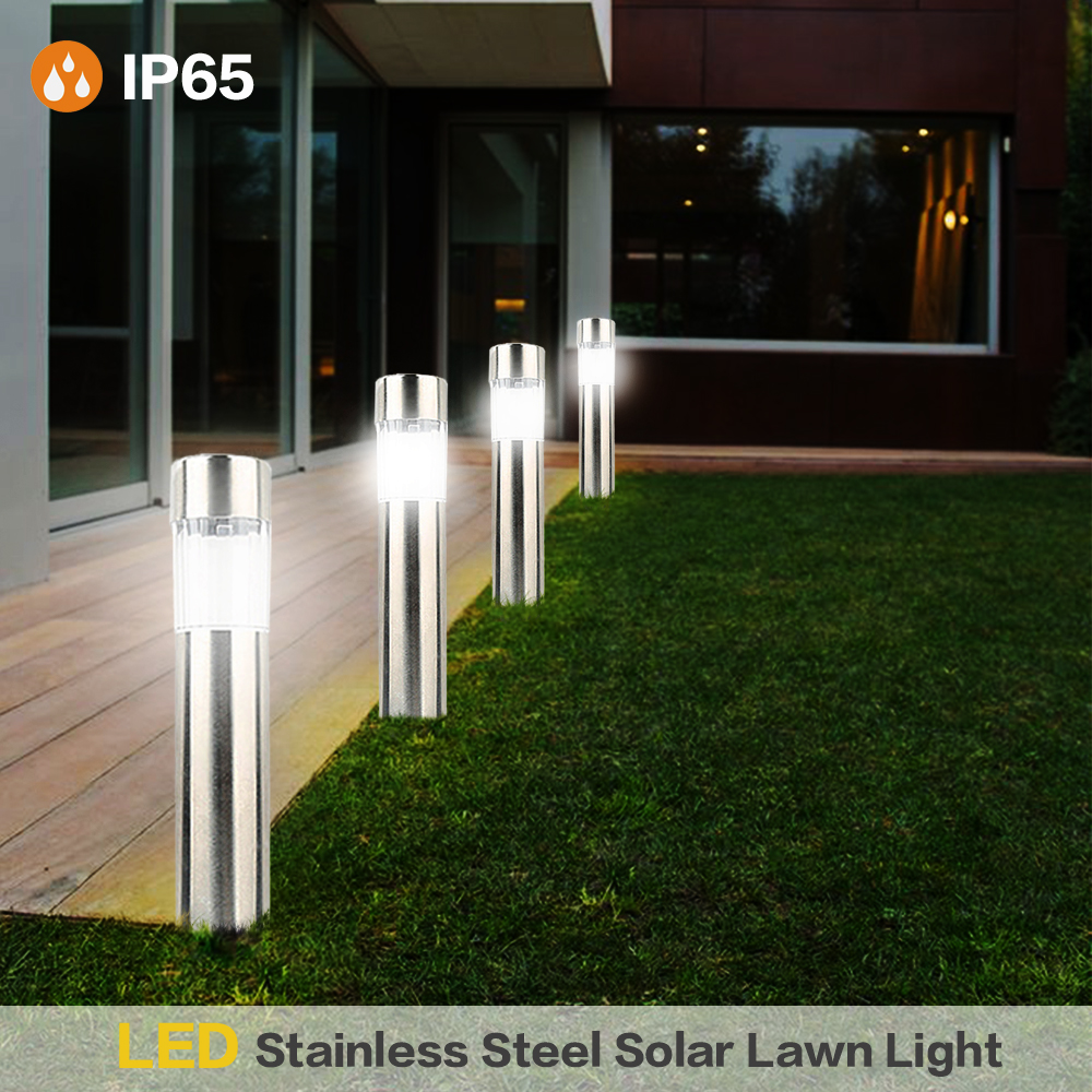 1PC LED Solar Lawn Lamps For Garden Decor Pathway  Outdoor Waterproof LED Solar Powered Lawn Lights Street Landscape Yard Lamp