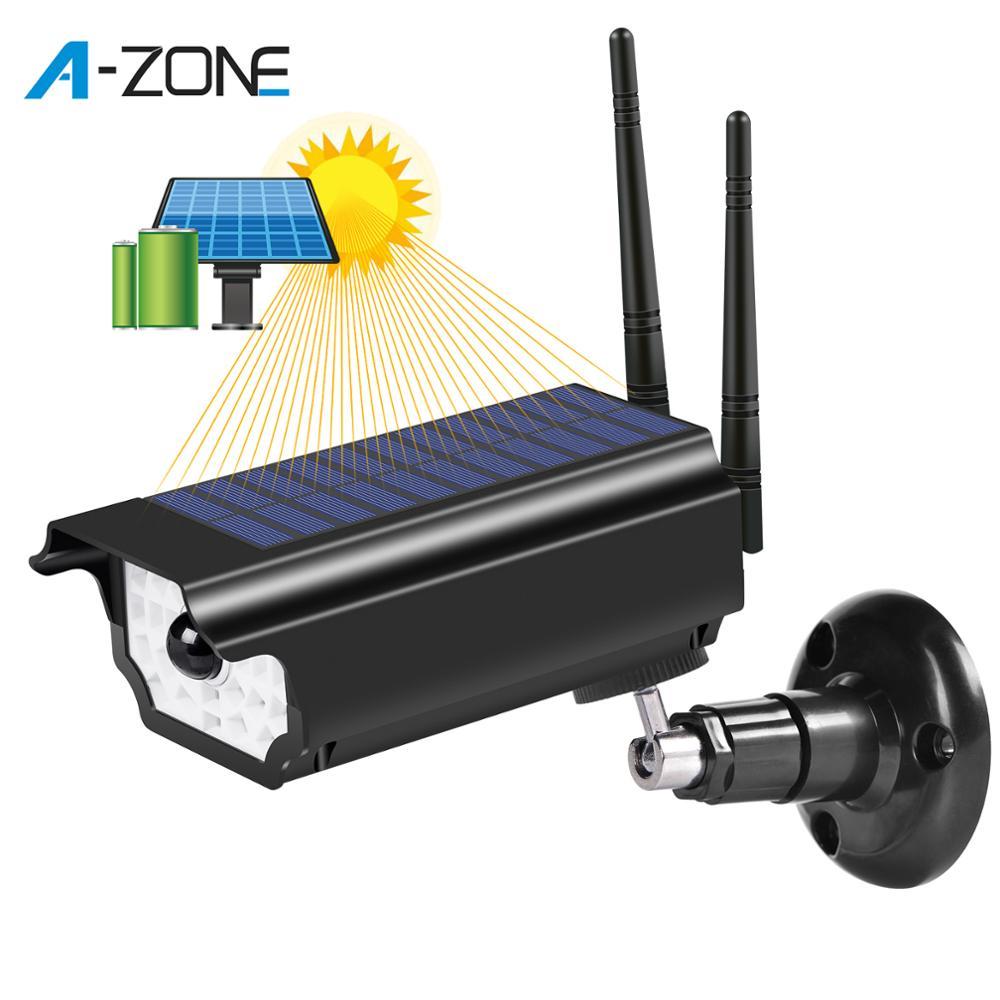 Faux CCTV caméra extérieure Simulation d'énergie solaire caméra factice étanche sécurité à la maison CCTV caméras de Surveillance avec Wifi