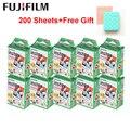 Fujifilm Instax Mini Film White 10-200 листов для FUJI Instant Photo Camera Mini 9 Mini 8 7s 70 90 + бесплатная сумка для фотоальбома