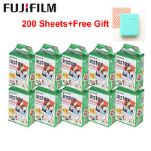 Fujifilm instax mini filme branco 10-200 folhas para fuji instant photo camera mini 9 mini 8 7s 70 90 + saco de cartão de álbum de fotos grátis