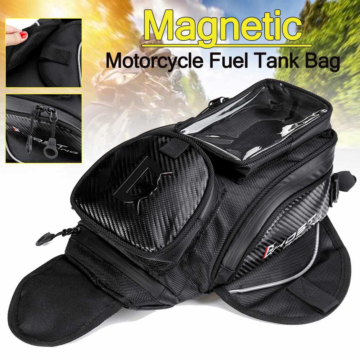 Motorcycle Tank Bag Motorbike Oil Fuel Tank Bag Magnetic Tank Bike Saddle Bag Motorcycle Bag Big Screen for Phone GPS Navigation