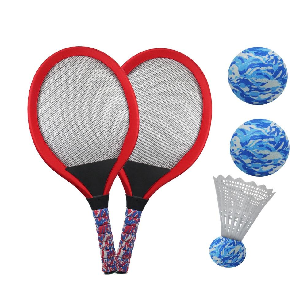 Plage jouet formation Badminton balle Sports de plein air pratique drôle Tennis raquette ensemble Parent-enfant jeu intérieur Durable enfants cadeau