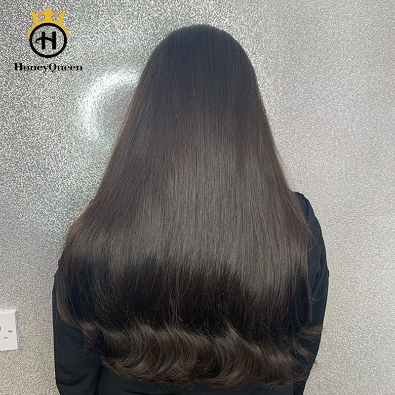 Jewish Wig Silk Base Kosher Wigs European Human Hair For Women 150 Density Color #4 Honey Queen Remy Hair Wig Double Drawn