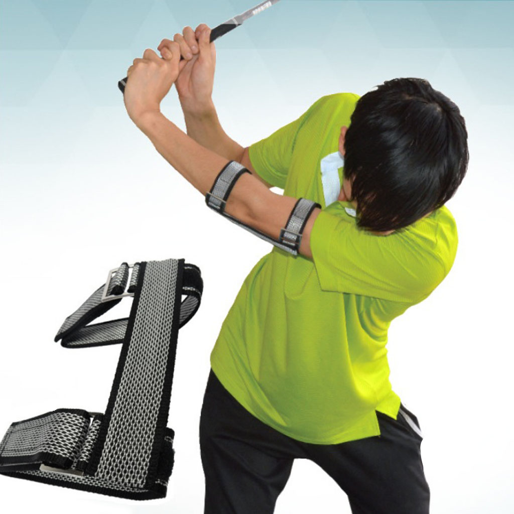 Golf Training Aids Swing Straight Practice Elbow Brace Corrector Support Arm Bends Improvement