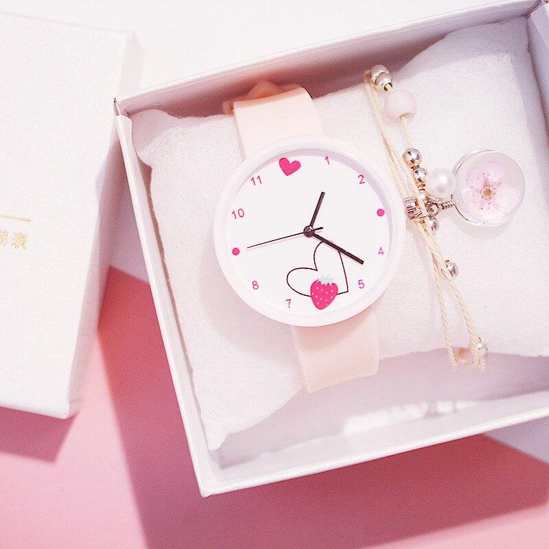 2020 Love Heart женские часы корейские силиконовые желе часы Ins тренд конфеты цвет наручные часы Reloj Mujer Часы Подарки для женщин