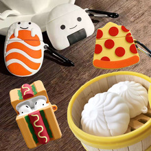 For Apple AirPods Steamed Stuffed Bun Earpods Case for Airpods 2 Simulation Food