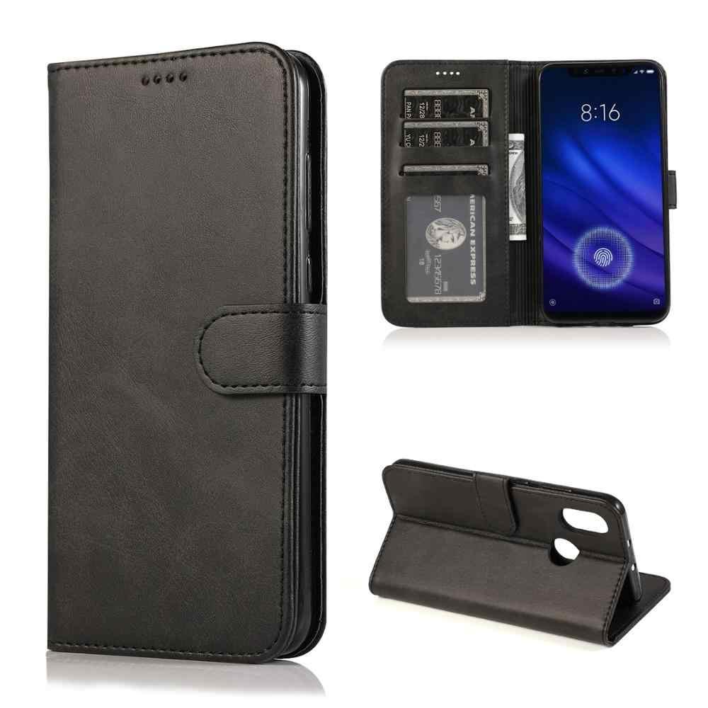 夏のための mi 8 磁気フリップ財布ケース xiaomi mi 8 純粋なステッチレザーケース 360 ° オールインクルーシブ保護ケース mi8