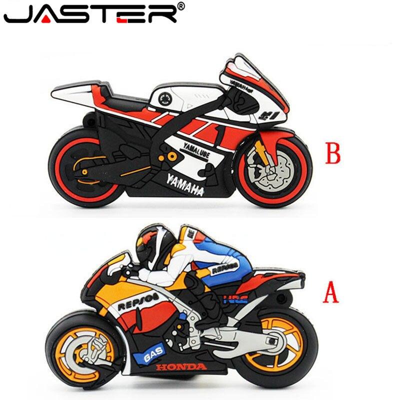 JASTER Cartoon Cool Men's Motorcycle Racer Usb Flash Drive Usb 2.0 4GB 8GB 16GB 32GB 64GB Pendrive Gift Love