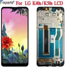 LCD do LG K50S LM-X540 LCD K40S montaż digitizera ekranu dotykowego części zamienne LMX540HM wyświetlacz LCD K40s do LG K50S LCD