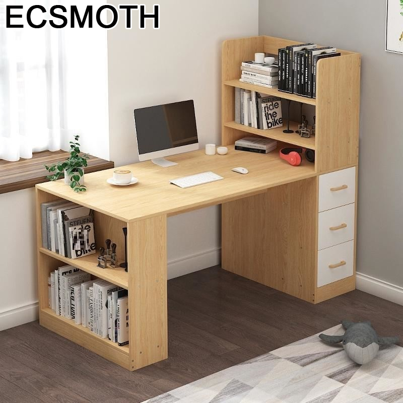 Office Furniture Standing Para Notebook Tavolo Tafel Mesa Portatil Desk Computer Tablo Stand Laptop Table With Bookshelf