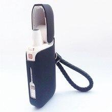 Capa protetora completa para iqos 2.4 plus ii iii moda cor preta caso para iqos cigarro eletrônico