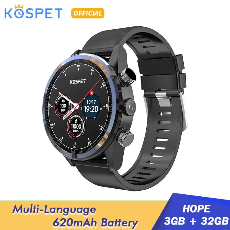 "KOSPET Hope 3GB 32GB Android Smart Watch GPS WIFI Heart Rate Monitor 1.39""AMOLED 8.0MP Camera Bluetooth 4G Smart Watch Men Phone|Smart Watches|   - AliExpress"