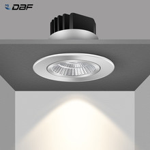 [DBF] Einstellbare Winkel Dimmbare LED COB Downlights 6W 9W 12W 18W Einbau Decke Lampe AC110V 220V Runde Spot Licht Wohnkultur