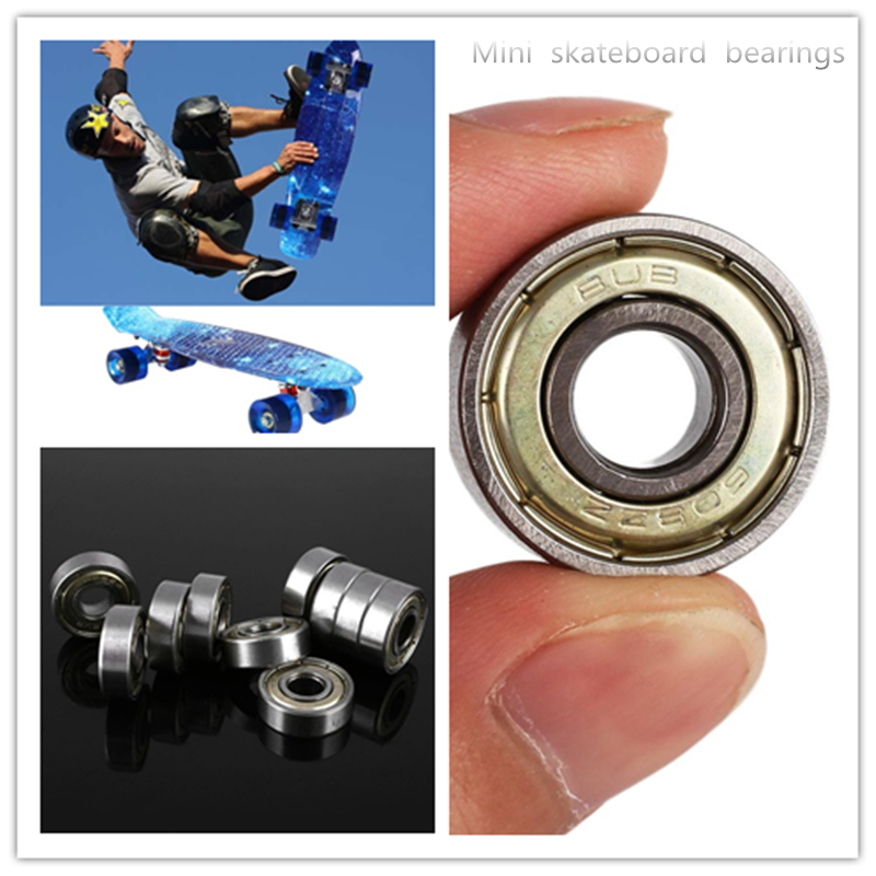 608zz Bearings 8*22*7mm Silver 10 Pcs Carbon Steel Bearing Skateboard Ball