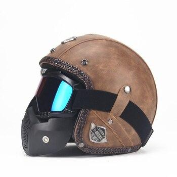 Ретро шлем из искусственной кожи 2