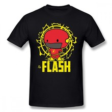 The Flash T Shirt Chibi Flash With Electricity T-Shirt Oversize Graphic Tee Shirt Man Fun Beach Short Sleeve Cotton Tshirt(China)