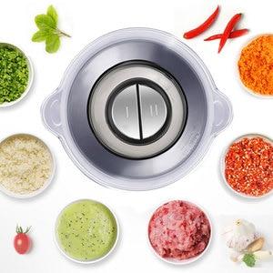 Image 5 - 2 Speeds 500W Stainless steel 2L Capacity Electric Chopper Meat Grinder Mincer Food Processor Slicer