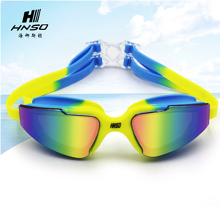 Cool Multi-Color Electroplating Goggles Waterproof Anti-fog Swimming Glasses Indoors And Outdoors Goggles 9933