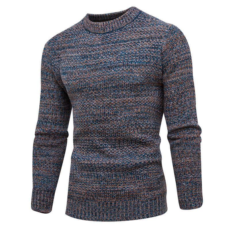 Casual Long Sleeve Autumn Winter Sweater Pullovers Jumper Men's O-Neck Mens Knitted Wool Sweaters New Fashion Knitwear