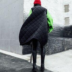 Image 5 - Vefadisa Winter Flocking Sleeveless Vest Woman 2019 Zippers Pockets Vest Coat Loose Cotton padded Vest Black Brown QYF1262