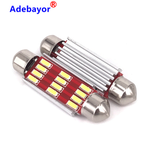 Image 2 - 1000 adet Festoon 31mm 36mm 39mm 41mm C5W canbus hiçbir hata otomatik ışık 12 SMD 4014 LED araba iç tavan aydınlatması okuma ampul beyaz
