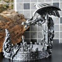 All metal dragon European style retro personality fashion creative decoration ashtray men's gifts ashtray cigar boyfriend