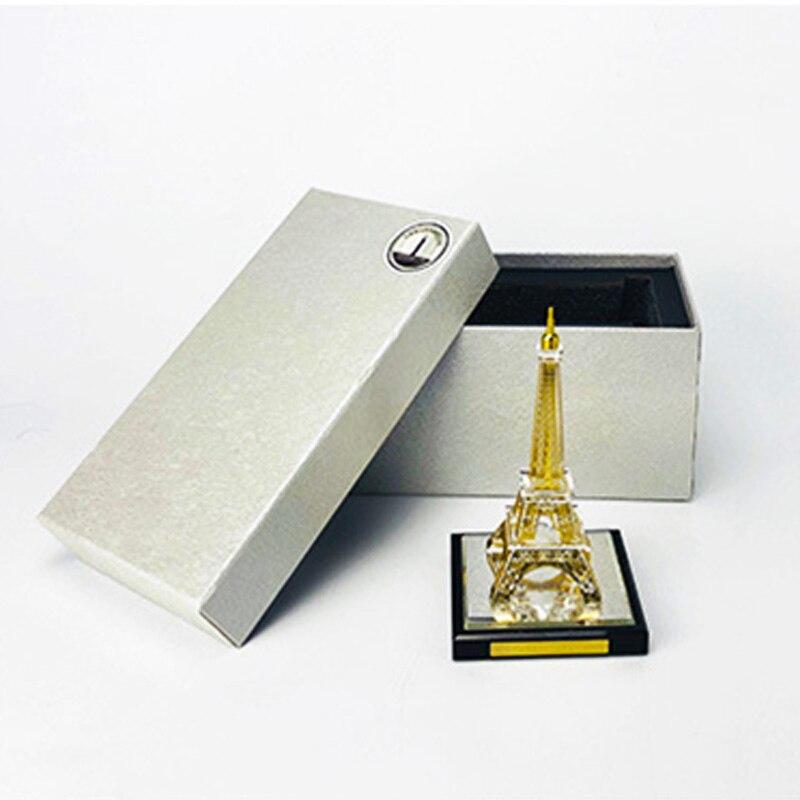 Париж Эйфелева башня кристалл инкрустированные золотом сборочные сувениры декоративная башня структура здания архитектурная модель шоу