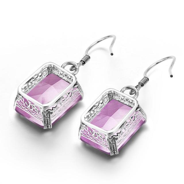 Фото серебряные серьги 925 стерлингового серебра ювелирные изделия цена