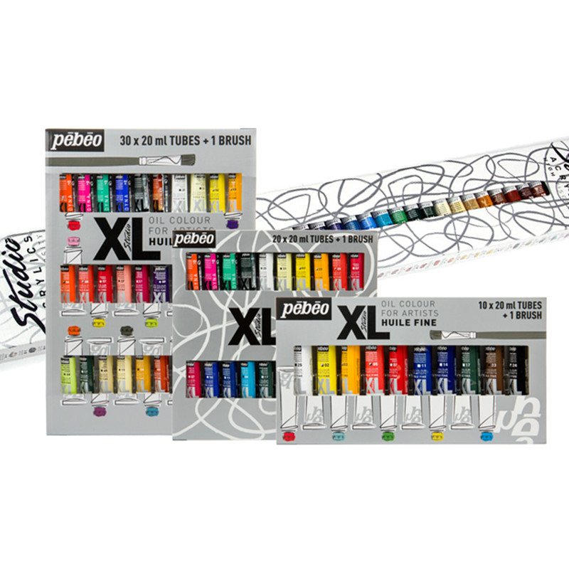 Pebeo Acrylic Paint Set Box,beginners Diy Hand-painted Graffiti,waterproof Shoe Materials Wall Paint Special Pigments