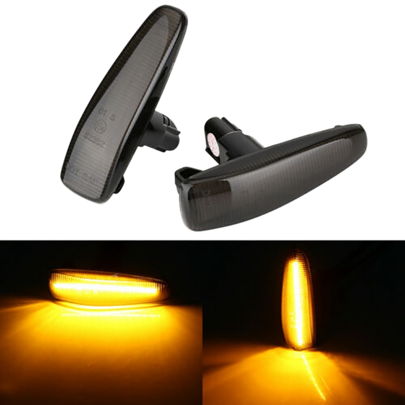 Turn Signal Light Smoked <font><b>LED</b></font> Side Marker for <font><b>Mitsubishi</b></font> <font><b>Lancer</b></font> EVO <font><b>X</b></font> Sport Lamp-Repeater UP Normal image