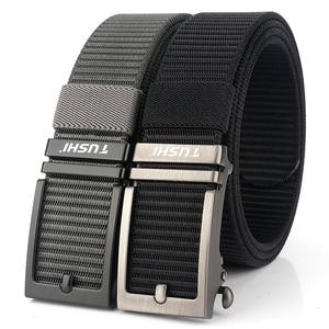 Image 2 - Cinturón de nailon con hebilla automática para hombre, cinturón masculino de alta calidad, con hebilla automática, 2020