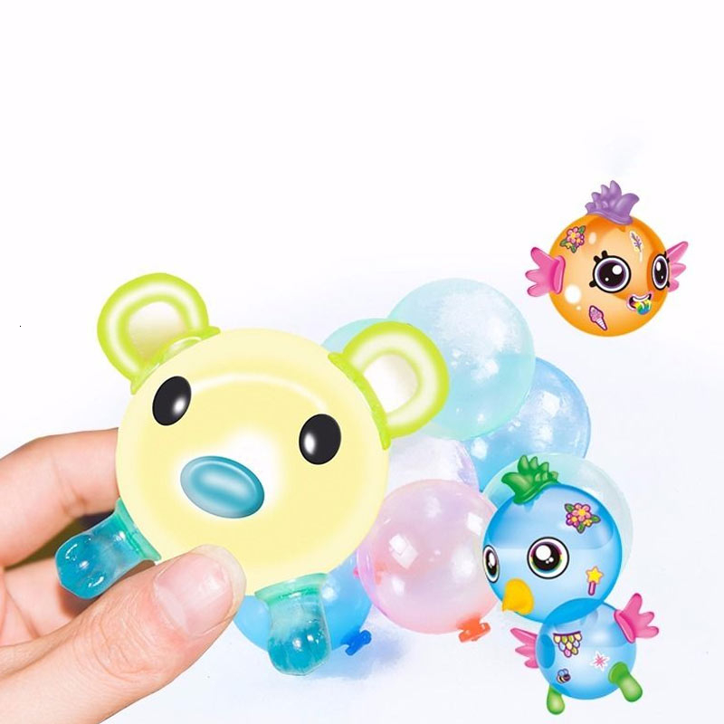 Magic Sticky Girl Inflation Toys For Children Ball Machine Wave Balloon Manual Diy Make Hubble-bubble Toys Squishy