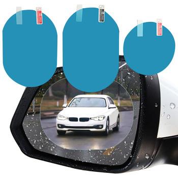 2 sztuk samochodów naklejki przeciwdeszczowe Film na naklejka na samochodowe lusterko wsteczne naklejka na samochodowe lusterko wsteczne deszcz Film jasny widok w deszczowe dni film samochodowy tanie i dobre opinie AMY CAR NEW FORCE CN (pochodzenie) Inne Arkusz EL 10cm 15cm Zmieniające kolor Nadwozie samochodu Bez opakowania Rainproof Film for Car Rearview Mirror