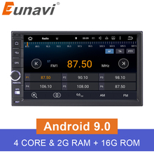 Eunavi 7'' 2G RAM Android 6.0 Universal Car Audio Stereo GPS Navigation Double 2 Din 1024*600 HD Car Radio Multimedia Player цена 2017