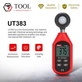 UNI-T UT383 Handheld Digital Iluminance Meter Illuminamento Meter Illuminamento Meter di Prova Ambientale Luminosità Strumento