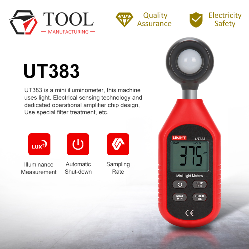 UNI-T UT383 Handheld Digital Iluminance Meter Illuminance Meter Illuminance Meter Environmental Test Luminosity Instrument