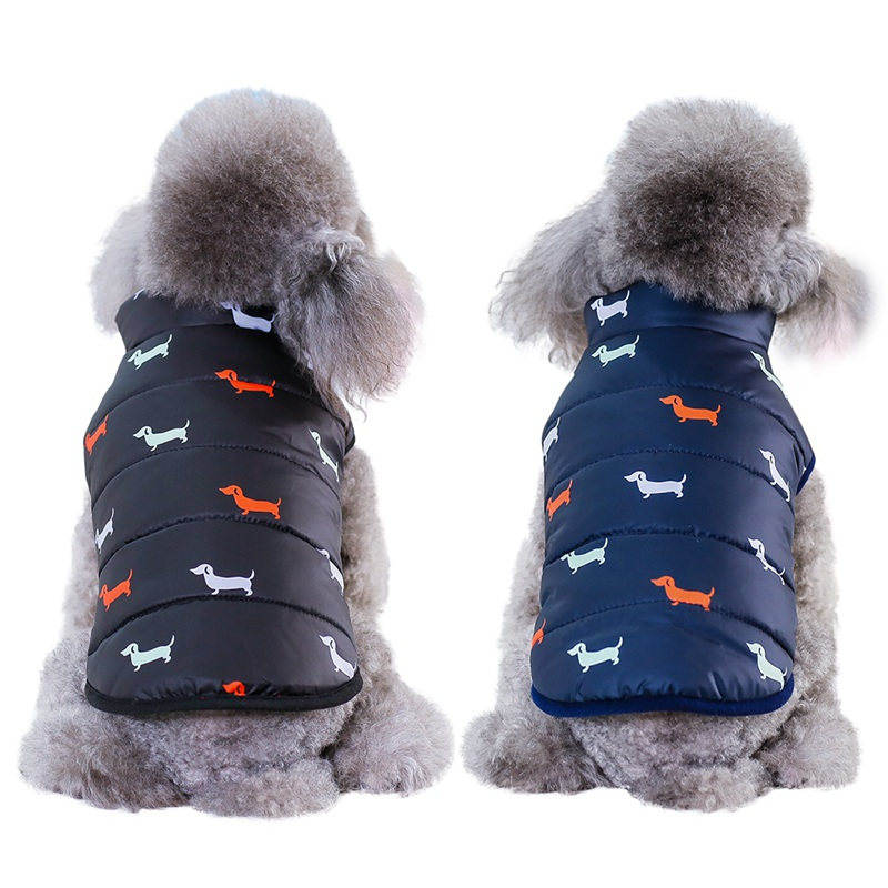 Waterproof Dog Jacket Made with Polyester Cotton and Fleece Material for Autumn and Winter 1