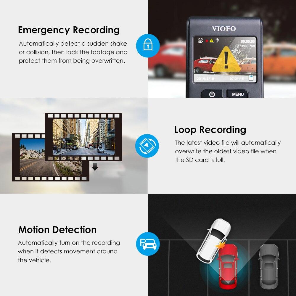 VIOFO A119 V3 2K 60fps kamera do deski rozdzielczej samochodu Super Night Vision Quad HD 2560*1440P wideorejestrator samochodowy z trybem parkowania g-sensor opcjonalnie GPS