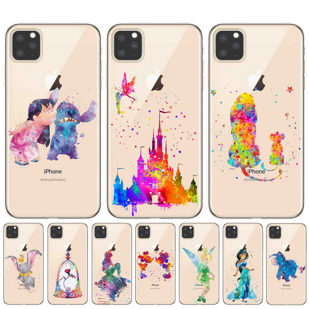 Custodia a sirena Cartoon Minnie Princess Stitch per iPhone 11 Pro XS MAX XR Cover per iPhone 8 7 6 6S Plus 5s SE Coque Cover shell