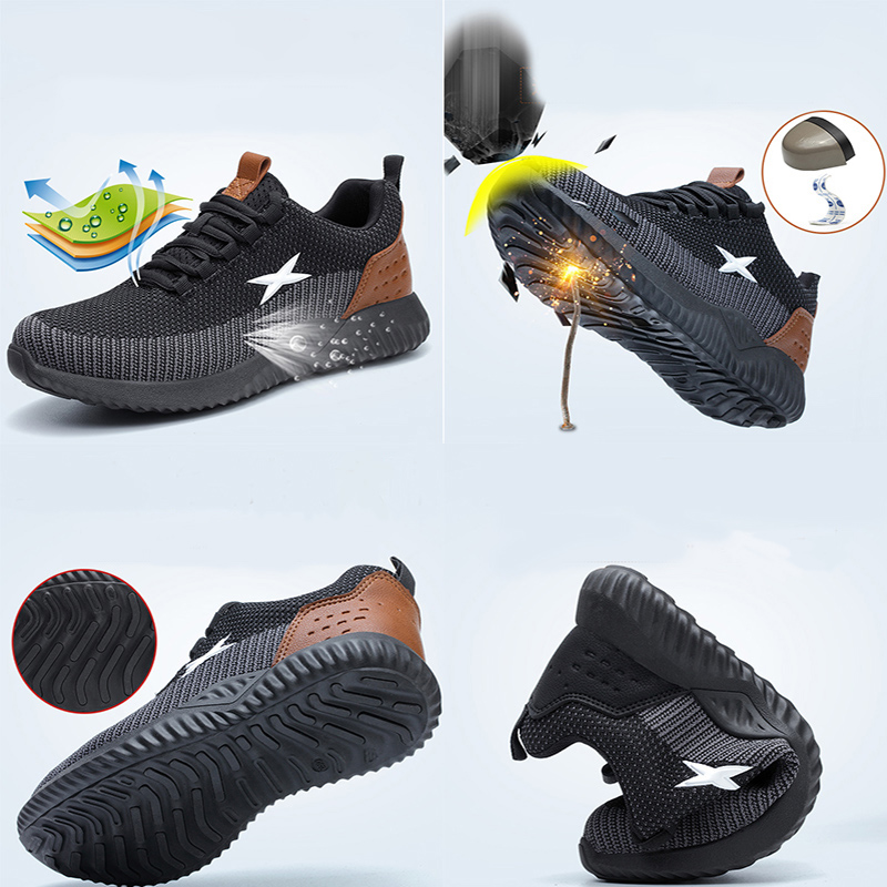 MWSC Safety Work Shoes For Men Steel Toe Cap Anti-smashing Working Boots Breathable Outdoor Construction Shoes Work Big Size 48 3