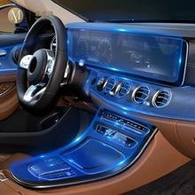 Para mercedes benz class e w213 2019 2020 carro interior console central transparente tpu película protetora anti risco acessórios